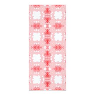 abtrato rosa de imagem de padrão convite 10.16 x 23.49cm