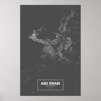 Abu Dhabi, United Arab Emirates (brancos no preto) Poster