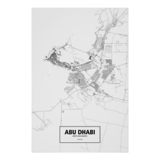 Abu Dhabi, United Arab Emirates (preto no branco) Poster