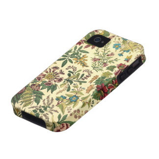Abundância floral antiquado capas para iPhone 4/4S