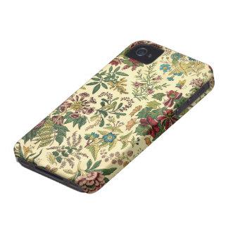 Abundância floral antiquado capinha iPhone 4