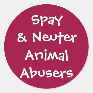 Abusadores animais neutros de Spay& Adesivo