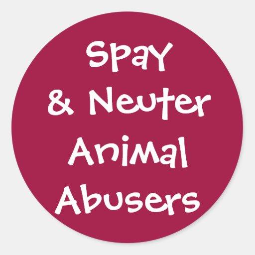Abusadores animais neutros de Spay& Adesivos Redondos