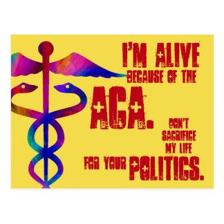 ACA minha vida seu cartão da política