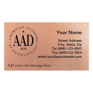 academia americana da dermatologia cartão de visita