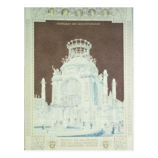 Academia das belas artes cartão postal
