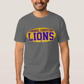 Academia do cristão do Evangel; Leões Tshirts