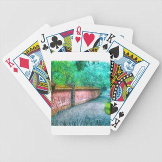 Acadia asiático da parede do jardim baralhos para pôquer