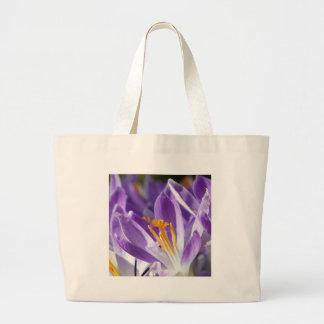 Açafrão violeta do primavera sacola tote jumbo