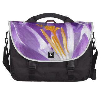 Açafrão violeta do primavera bolsa para computador portátil