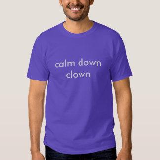 acalme para baixo o palhaço t-shirt