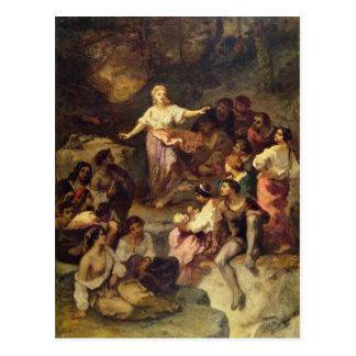Acampamento aciganado, 1848 cartão postal
