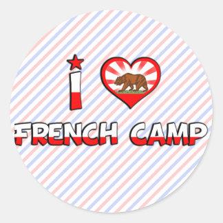 Acampamento francês, CA Adesivo Em Formato Redondo