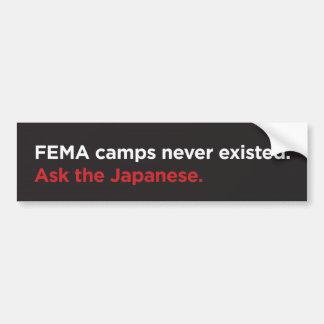 Acampamentos do FEMA - japoneses Adesivo Para Carro