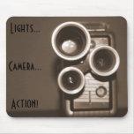 Ação da câmera das luzes mousepad
