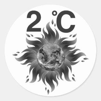 Ação da consciência = do clima das alterações adesivo redondo