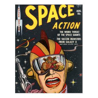 Ação do espaço cartão postal