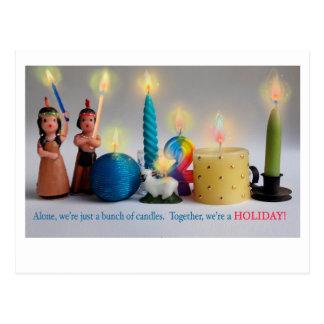 Acção de graças de Hanukah do Natal do cartão do