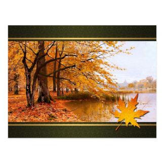 Acção de graças feliz. Cartão das belas artes Cartão Postal