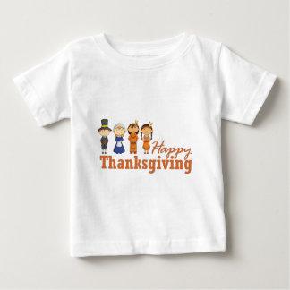 Acção de graças feliz com nativo americano do camiseta para bebê