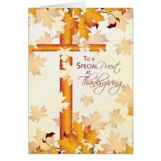 Acção de graças feliz do padre, católico cartão comemorativo
