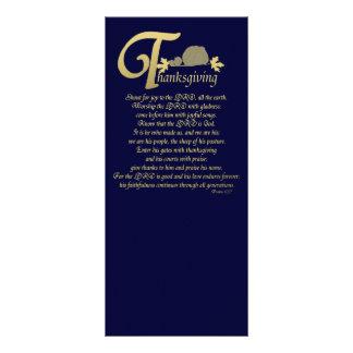Acção de graças - salmo 100 10.16 x 22.86cm panfleto