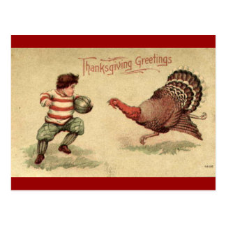 Acção de graças Turquia do vintage e cartão do