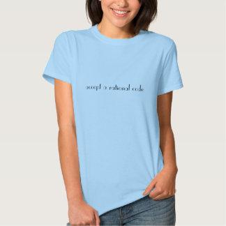 aceite um código racional tshirt