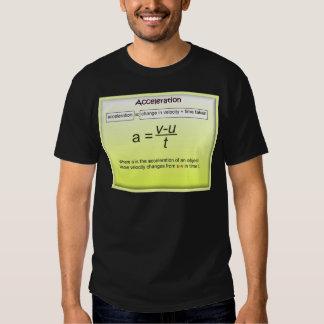 Aceleração, matemática, ciência, física t-shirt