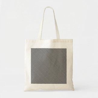Acento diagonal clássico do saco da listra bolsas para compras