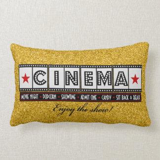 Acento do vermelho do descanso do cinema do cinema travesseiros de decoração