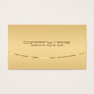 Acento metálico do fundo claro moderno do ouro cartão de visitas