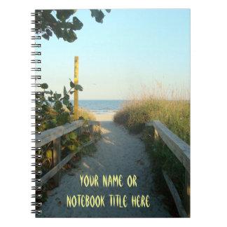 Acesso da praia personalizado caderno