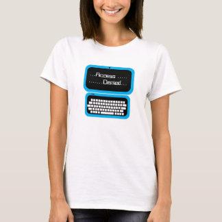 Acesso engraçado camisa azul negada do geek T do