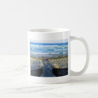 Acesso rochoso da praia de York Caneca De Café