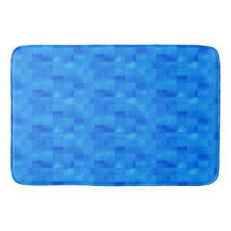 Acessório azul à moda do banheiro do azulejo do tapete de banheiro