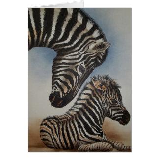 Acessórios da imagem invertida (zebra) cartão comemorativo