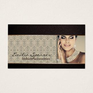 Acessórios de forma & cartão de visita da jóia
