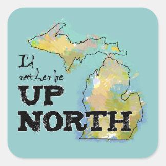 Acima da etiqueta colorida norte da ilustração de