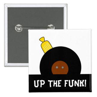 Acima do botão estilizado do homem do Afro do funk Bóton Quadrado 5.08cm