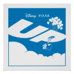 ACIMA do logotipo do filme - cor lisa - Disney Pix Posteres