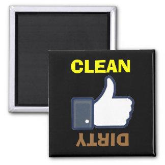 Acima limpo sujo dos polegares/para baixo ímãs da ímã quadrado