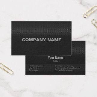Aço carbono fino moderno e mínimo cartão de visitas