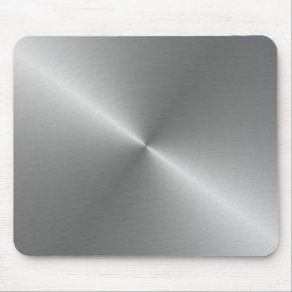aço escovado circular mouse pad