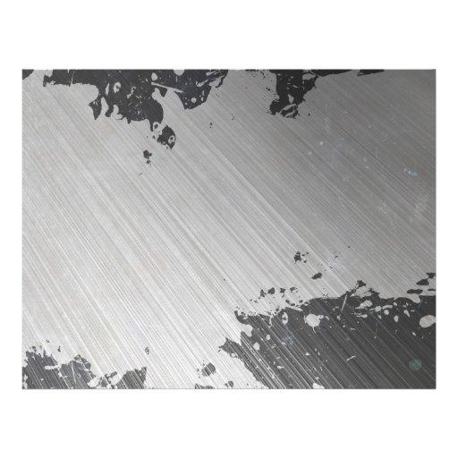 Aço escovado urbano Splattered Modelos De Panfleto