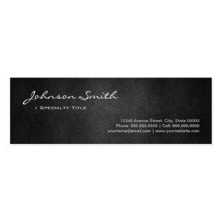 Aço preto do ferro do metal - olhar legal da cartão de visita skinny