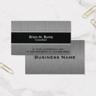 Aço preto executivo da escova cartão de visitas