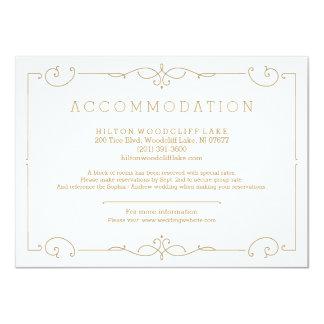 Acomodação clássica moderna elegante do casamento convite 11.30 x 15.87cm