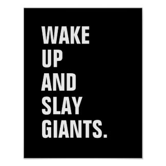 Acorde e massacre o poster de Giants