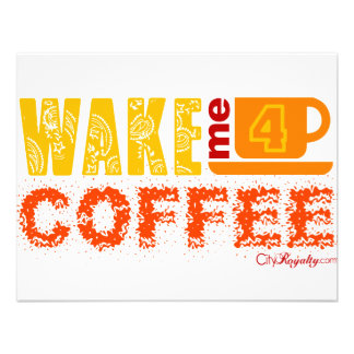 Acorde-me para o café convite personalizado